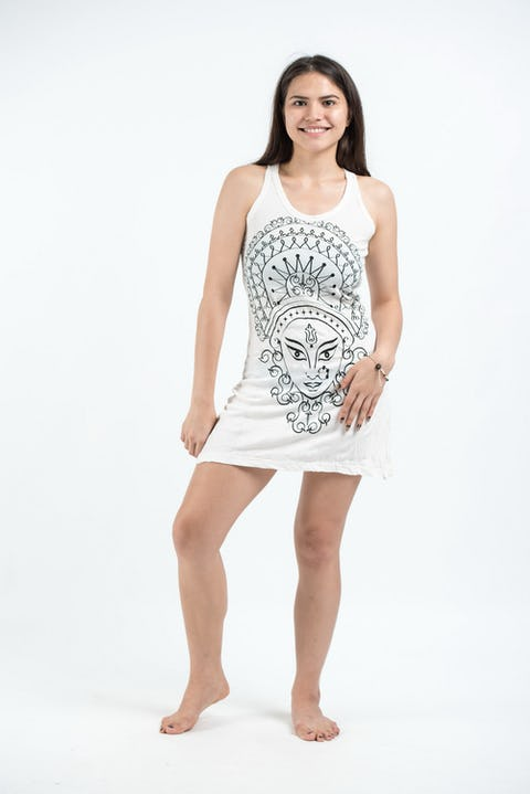 Sure Design Womens Durga Tank Dress White