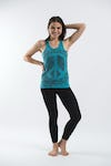 Sure Design Womens Infinitee Peace Sign Tank Top Turquoise
