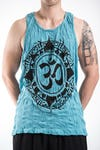 Sure Design Mens Infinitee Ohm Tank Top Turquoise