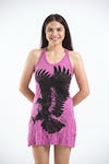 Sure Design Womens Eagle Tank Dress Pink
