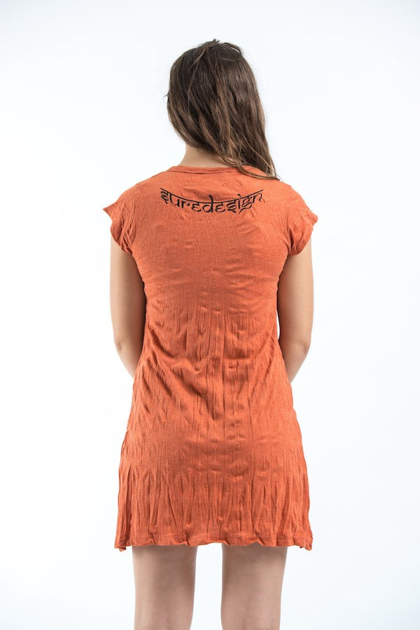 Sure Design Womens Ohm hands Dress Orange