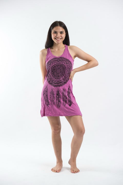 Sure Design Womens Tank Dress Dreamcatcher Pink