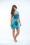 Sure Design Womens Celtic Tree Tank Dress Turquoise