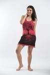 Sure Design Womens Tree of Life Tank Dress Red