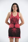 Womens Tree of Life Tank Dress in Red