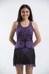 Sure Design Womens Tree of Life Tank Dress Purple