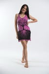 Womens Tree of Life Tank Dress in Pink
