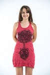 Sure Design Womens Celtic Tree Tank Dress Red