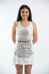 Sure Design Womens Harmony Tank Dress White