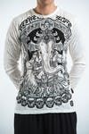 Sure Design Unisex Batman Ganesh Long Sleeve Shirt White