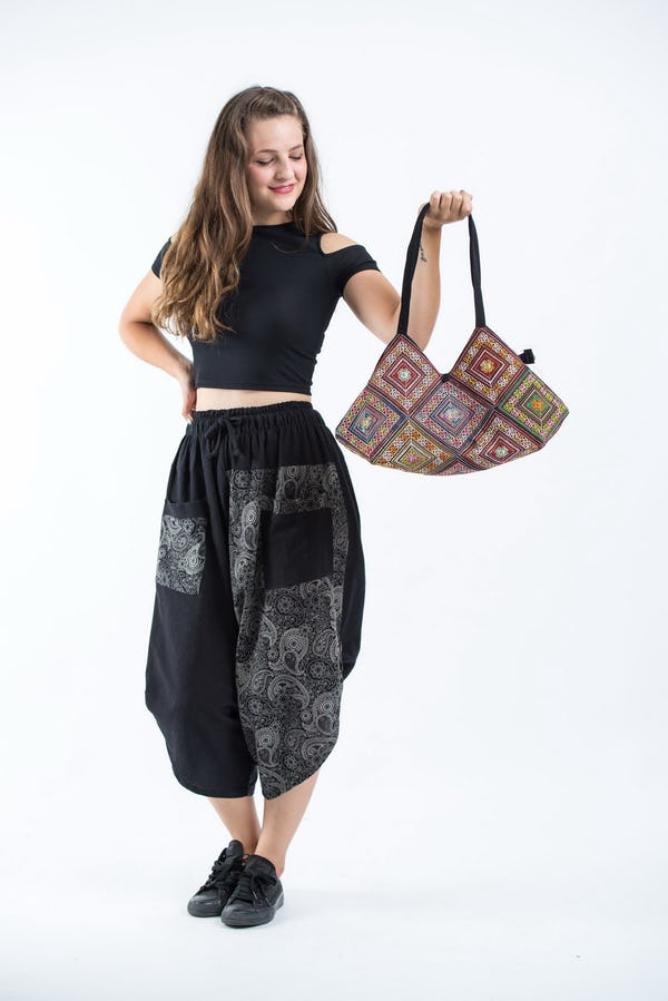 Thai Hill Tribe Embroidered Tote Bag