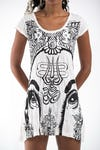 Sure Design Womens Indian Gods Dress White
