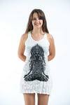 Sure Design Womens Ganesh Mantra Tank Dress White