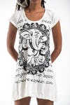Sure Design Womens Avatar Ganesh Dress White