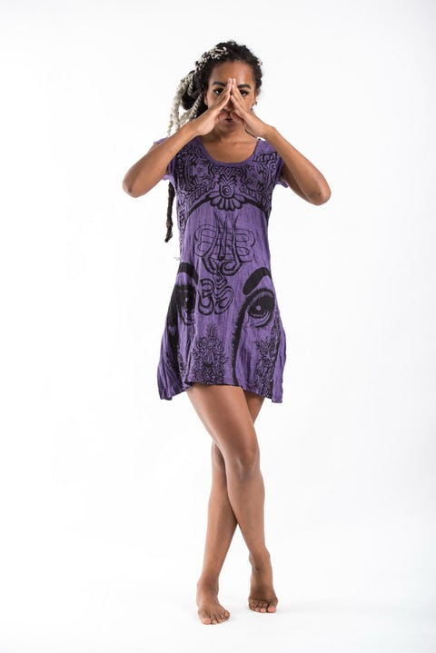 Sure Design Womens Indian Gods Dress Purple