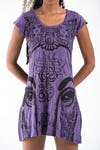 Womens Indian Gods Dress in Purple