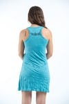 Sure Design Womens Ganesh Mantra Tank Dress Turquoise