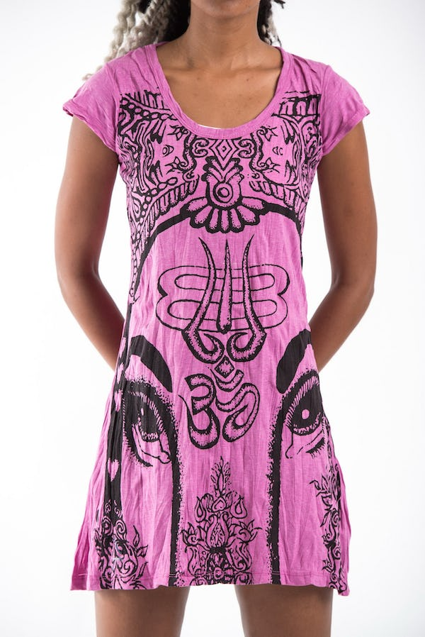 Sure Design Womens Indian Gods Dress Pink