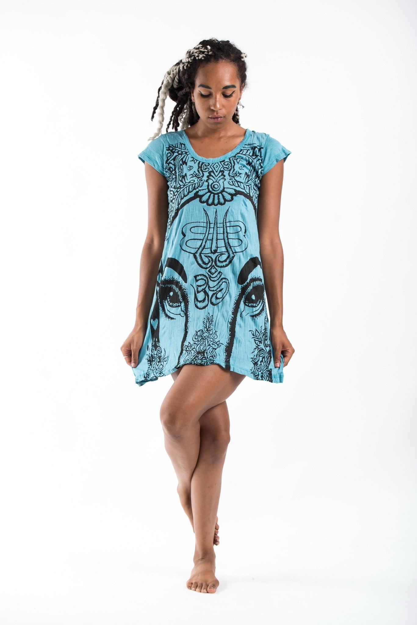 Turquoise Indian Dress