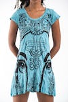 Sure Design Womens Indian Gods Dress Turquoise