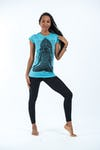 Sure Design Womens Ganesh Mantra T-Shirt Turquoise