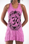 Sure Design Womens Infinitee Ohm Tank Dress Pink