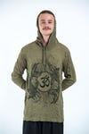 Sure Design Unisex Ohm and Koi Fish Hoodie Green