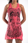 Womens Batman Ganesh Tank Dress in Red