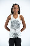 Sure Design Womens Celtic Tree Tank Top White