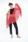 Fair Trade Hand Made Organic Cotton Scarf Red