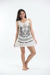 Sure Design Womens Thai Tattoo Tank Dress White