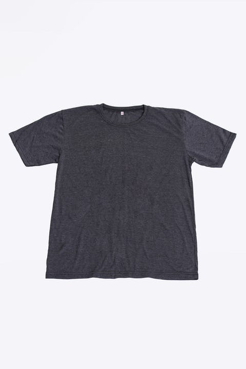 Plain Cotton T-Shirt in Black