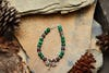 Hand Made Tibetan Dragon Fly Mala Bracelet With Malachite Beads