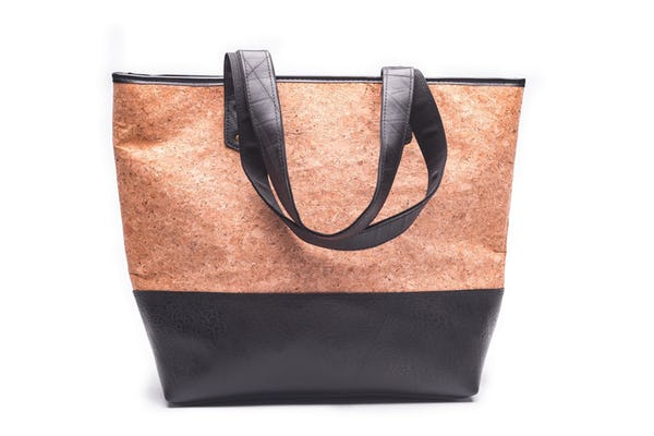 Upcycled Cork Rubber Tote Bag Medium
