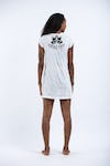 Womens Wild Elephant Dress in White