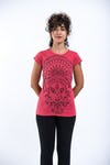 Womens Durga T-Shirt in Red
