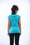 Womens Peace Sign T-Shirt in Turquoise