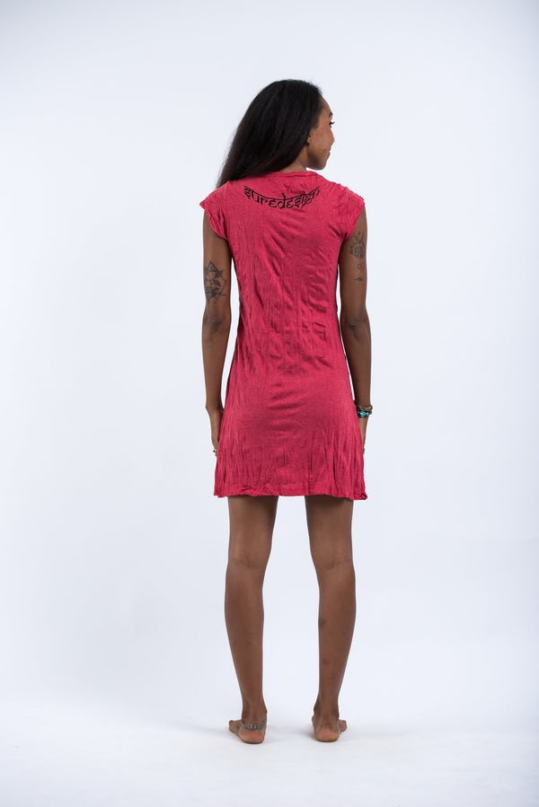 Womens Wild Elephant Dress in Red