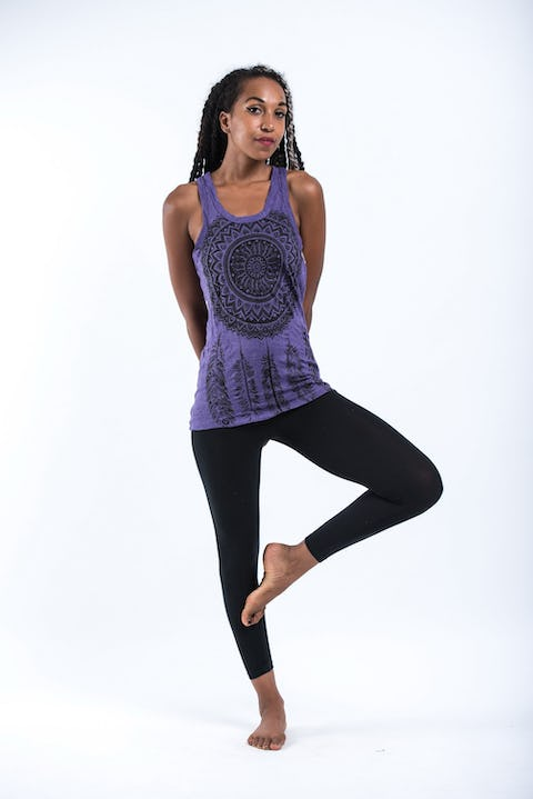 Sure Design Womens Dreamcatcher Tank Top Purple