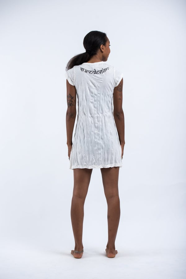Womens Tree of Life Dress in White
