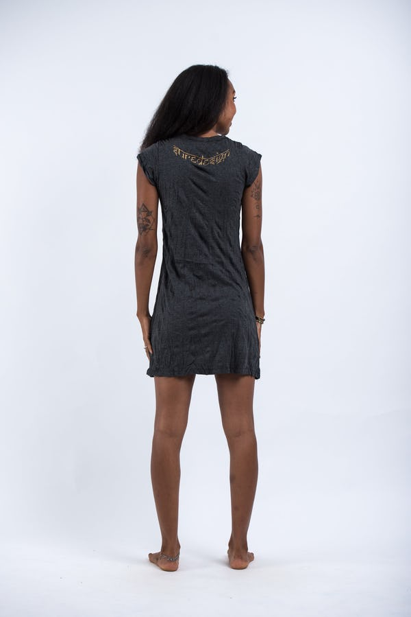 Womens Octopus Dress in  Gold on Black
