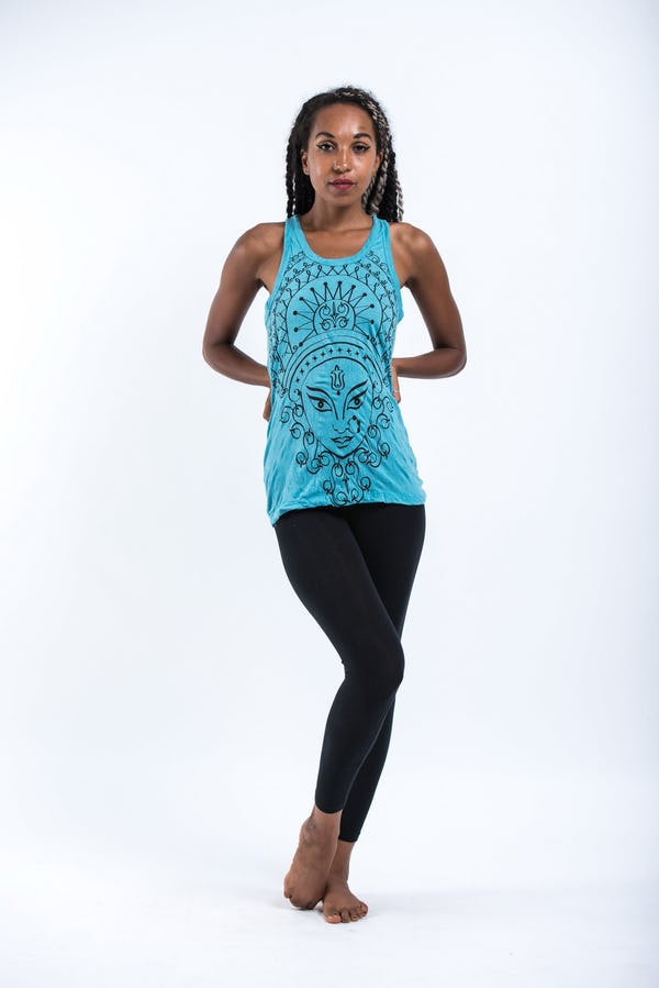 Sure Design Womens Durga Tank Top Turquoise