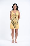 Sure Design Womens Octopus Weed Tank Dress Yellow