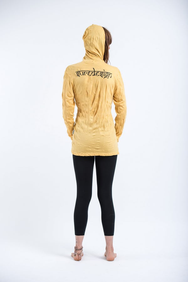 Sure Design Unisex Octopus Weed Hoodie Yellow