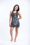 Sure Design Womens Octopus Mandala Tank Dress Silver on Black