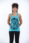 Womens Infinitee Om Tank Top in Turquoise