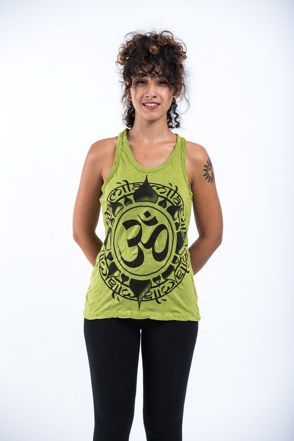 Sure Design Womens Infinitee Ohm Tank Top Lime
