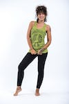Sure Design Womens Infinitee Peace Sign Tank Top Lime