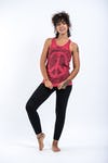 Sure Design Womens Infinitee Peace Sign Tank Top Red