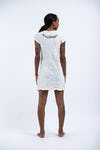 Sure Design Womens Infinitee Ohm Dress White
